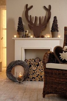 Fantastisch The Reindeer Silhouette Mantel Accessory Is A Perfect Festive Focus Point  And Easy To DIY Too!