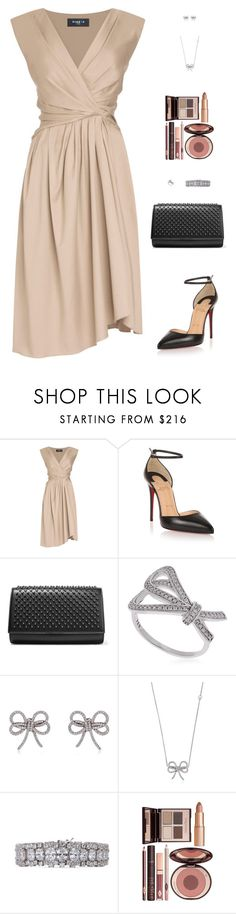 """""""Sin título #4880"""" by mdmsb on Polyvore featuring moda, Christian Louboutin, Apples & Figs, CZ by Kenneth Jay Lane y Charlotte Tilbury"""