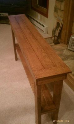 hall table from an old pallet.. | Oak hall table made from pallets. I don't want to sell it. Love love ...