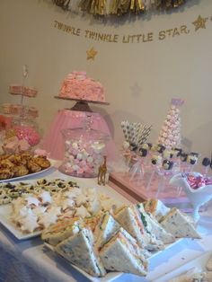 My daughter's pink baby shower with a Twinkle, twinkle little star theme. Tracey van Lent