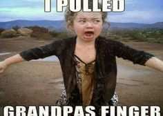 I PULLED GRANDPAS FINGER: more funny pictures @ http://www.fartinvite.com/