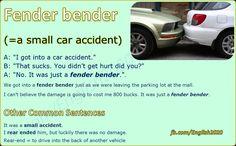 Expression: Fender bender