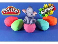 Пластилин Плейдо Сюрпризы ИГРУШКИ Слоник Машинка Play Doh Surprises TOYS...