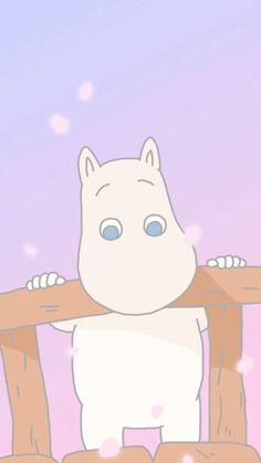 Moomin This is adorable😄💖 Moomin Wallpaper, Cute Anime Wallpaper, Cute Cartoon Wallpapers, Pastel Wallpaper, Iphone Wallpaper, Tove Jansson, Cartoon Icons, Kawaii Art, Cute Characters
