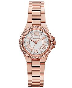 Michael Kors Women's Camille Rose Gold-Tone Stainless Steel Bracelet Watch 26mm MK3253 - Michael Kors - Jewelry & Watches - Macy's
