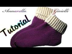 Tutorial scarpe da notte all'uncinetto | How to crochet socks