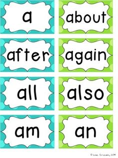Brighten up your word wall with this word wall packet in turquoise and lime polka dot - Two font versions provided.