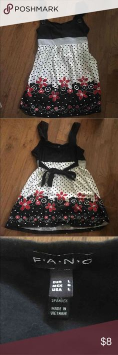 Baby doll tank top Cute printed baby doll tank top. Ties in the back. Juniors L. Bundle and save!  Tops Tank Tops