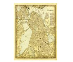Boston Map - Map of Boston.Shipping by mail is not currently available for this item. Shipping for this item is only available