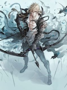This character looks super cool. anime guy with blond hair and bow and arrow. Final Fantasy Xiv, Fantasy Male, Fantasy Warrior, Anime Fantasy, Anime Characters Male, Final Fantasy Characters, Fantasy Character Design, Character Design Inspiration, Character Art