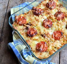 Overnight Bacon and Sausage Breakfast Casserole