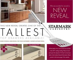 Get the most out of your kitchen drawer storage space with StarMark's tall drawers.  Available Now at www.ClickCabinets.com  Free Design Free Shipping Free Samples