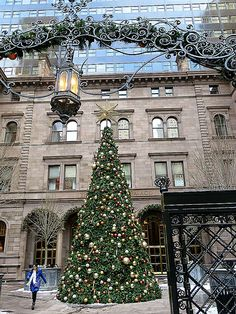 New York Palace Hotel (at Christmas), 455 Madison Avenue, New York City. December 16, 2013.