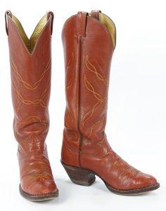 "Rare Vtg Tony Lama 19"" Tall Buckaroo Cowboy Boots USA Made Black Label Men 8.5 D #TonyLama #CowboyWestern"