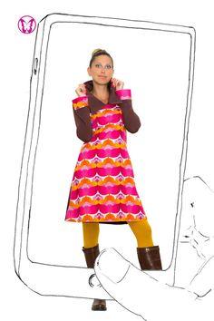 Knielange Kleider - Livigno - ein Designerstück von Weiberstyle bei DaWanda