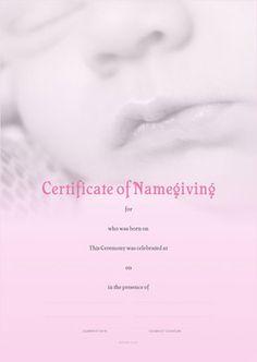 Naming Certificate - Pink Baby Lips design. Gallery Cafe, Art Gallery, Baby Lips, Name Day, Lip Designs, Certificate, Names, Celebrities, Pink