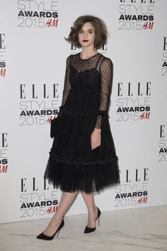 Sai Bennett wearing Dolce&Gabbana to attend the Elle Style Awards 2015 in London on February 24, 2015.