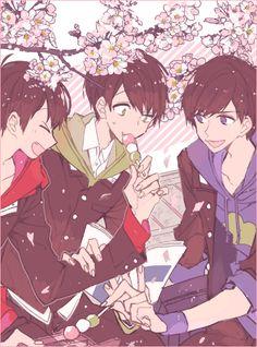 Osomatsu-san- Osomatsu, Karamatsu, and Choromatsu #Anime「♡」School