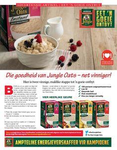 Afrikaans, Oatmeal, Breakfast, Food, The Oatmeal, Morning Coffee, Rolled Oats, Essen, Meals