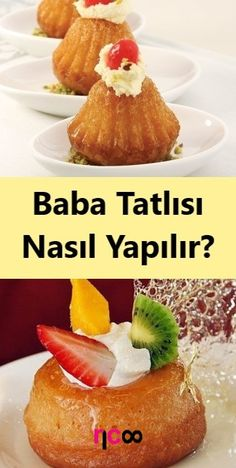 How to Make Baba Dessert? # sweet # how to make # sweet Snack Recipes, Dinner Recipes, Dessert Recipes, Savarin, Turkish Delight, Best Beauty Tips, Turkish Recipes, Dessert For Dinner, Healthy Desserts