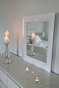 Coconut White: Kartell white Francois Ghost mirror