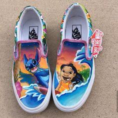 Vans Shoes, Sneakers, Old Skool & Skate Shoes Hype Shoes, Women's Shoes, Me Too Shoes, Van Shoes, Golf Shoes, Skate Shoes, Disney Painted Shoes, Disney Shoes, Vans Disney