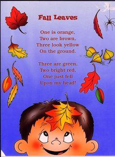 Preschool Poems, Kids Poems, Fall Preschool, Preschool Classroom, Preschool Activities, Poetry Activities, Songs For Kids, Kindergarten Poems, Harvest Poems