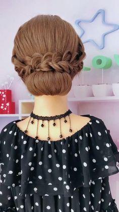 Hairdo For Long Hair, Bun Hairstyles For Long Hair, Braids For Short Hair, Bride Hairstyles, Headband Hairstyles, Messy Braids, Twist Braids, Popular Hairstyles, Box Braids