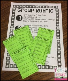 Funky in Fourth: Holding Students Accountable During Reading Groups