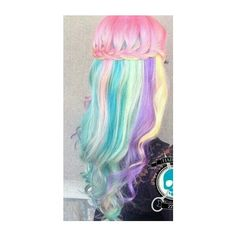 Pastel | hair, pastel and colorful ❤ liked on Polyvore featuring accessories and hair accessories
