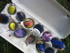 Painted Rocks - time to walk, rocks, containers to hold them, paint, brushes. (representation and space)