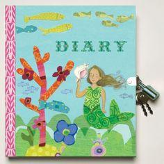 eeBoo Mermaid Lock & Key Diary