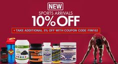 Save 10% on select New Sports Arrivals Special items https://iherb.co/2awVPUV4 + Take additional 5% off with coupon FIW102 #SportsResearch #Grenade #EVLutionNutrition #KagedMuscle #PerfectShaker #APS #CobraLabs #BuffBake #HiTechPharmaceuticals...