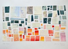 Watercolor paper mosaics