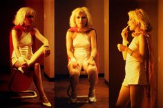 """In Las Vegas in 1979, Roberta Bayley took this picture of Debbie Harry. """"The band was playing the Aladdin Hotel. The hotel and casino was where Elvis Presley married Priscilla in 1969, and where he played many shows,"""" says Bayley. """"I did not think it was a coincidence that Debbie wore all white for the show and entered wearing a gorgeous Stephen Sprouse sequined scarf, a la Elvis's capes."""""""
