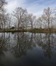 Ulldecona #village #landscape #reflect #trees