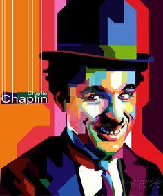 .:charlie chaplin WPAP:. by gilar666