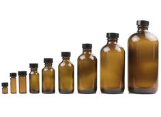 Mountain Rose Herbs: Amber Glass Bottles with Screw Cap