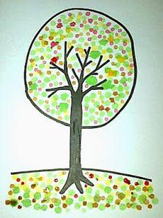 Nove Hasanah: Cara Menggambar Pohon Cantik dengan Cotton Bud dan... Bud, Microsoft, Cotton, Gem, Eyes, Knob