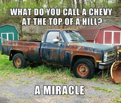 best Chevy Vs Ford ideas on Ford Memes, Ford Humor, Chevy Memes, Truck Humor, Funny Truck Quotes, Funny Car Memes, Really Funny Memes, Funny Stuff, Random Stuff