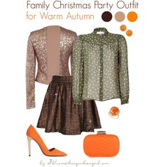 dd1a489343a4 Family Christmas Party Outfit for Warm Autumn by thirtysomethingurbangirl  on Polyvore featuring Mode