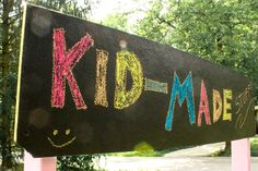 How-to: Make Re-usable Chalkboard Signs instead of Posters