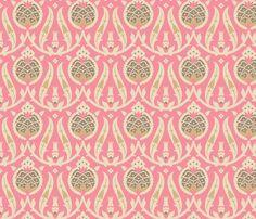 pomegranate841a  muhlenkott  26  Iznik fabric: browns, pink & ivory background