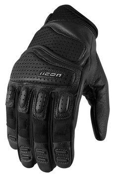 ICON Super Duty 2 Perforated Short Gauntlet Motorcycle Gloves (Black) M (Medium) Biker Gloves, Motorcycle Gloves, Motorcycle Leather, Motorcycle Outfit, L Icon, Motocross Gloves, Leather Work Gloves, Motorcycle Equipment, Long Gloves