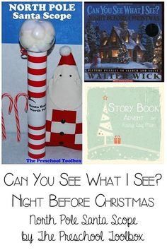 "Can You See What I See:  Night Before Christmas by Walter Wick - create the SANTA SPY SCOPE to hunt down ""the big guy!"""