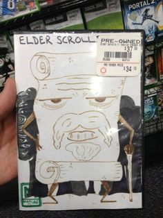 The Elder Scrolls - The person who made that cover needs to be my friend!