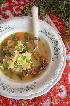 Wigilijna zupa grzybowa z suszonych grzybów Recipies, Thanksgiving, Cooking Recipes, Ethnic Recipes, Christmas Meals, Winter, Crafts, Diet, Polish Soup