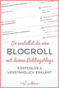 Tutorial: So kannst du eine Blogroll erstellen – mit dem kostenlosen WordPress-Plugin Feedzy RSS Feeds Lite. #bloggen #wordpress #tutorial #blogroll