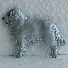 Maremma Brooch Dog Breed Jewellery Handpainted Handcrafted Resin