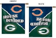 """House Divided NFL House Flag """"Chicago Bears vs Green Bay Packers"""" by WinCraft, http://www.amazon.com/dp/B009WWZZVG/ref=cm_sw_r_pi_dp_fEDXrb1F57H0X"""